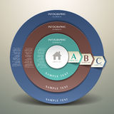 Infographics abstrait de la cible 3d Images stock