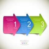 Infographics abstrait de papier de la flèche 3d de vecteur illustration stock