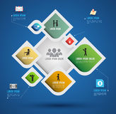 Infographics abstrait de vecteur Images stock