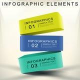 Infographics abstrait du cube 3d Images stock