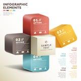 Infographics abstrait du cube 3d en vecteur Photo stock