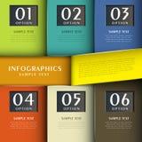 Infographics abstrait du papier 3d Image libre de droits