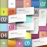 Infographics abstrait du papier 3d de vecteur Photographie stock libre de droits