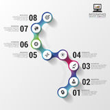 Infographics abstrato colorido moderno do espaço temporal Ilustração do vetor Imagens de Stock