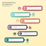 Infographics abstrato da bandeira Imagem de Stock Royalty Free