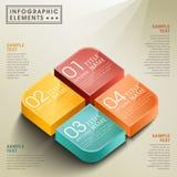 Infographics abstrato da caixa 3d do vetor Fotos de Stock