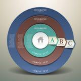 Infographics abstrato do alvo 3d Imagens de Stock