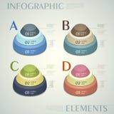 Infographics abstrato do botão 3d do vetor ilustração stock