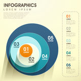 Infographics abstrato do círculo ilustração stock