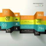 Infographics abstrato do cubo 3d Fotos de Stock