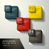 Infographics abstrato do cubo 3d ilustração royalty free