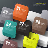 Infographics abstrato do cubo 3d do vetor Foto de Stock Royalty Free