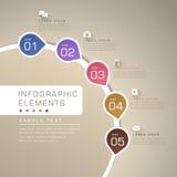 Infographics abstrato do fluxograma ilustração stock