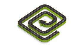 Infographics abstrato do negócio sob a forma de uma estrada do automóvel fotos de stock