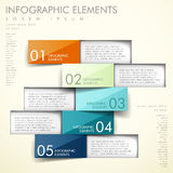 Infographics abstrato do origâmi Fotografia de Stock