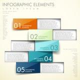 Infographics abstrato do origâmi Fotografia de Stock