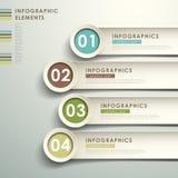 Infographics abstrato do papel 3d Foto de Stock