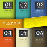 Infographics abstrato do papel 3d Imagem de Stock Royalty Free