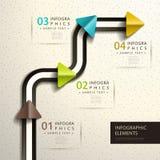 Infographics abstrato do papel 3d Fotos de Stock Royalty Free