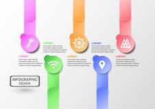 Infographics abstrato para a apresentação do negócio com espaço do texto Imagens de Stock Royalty Free