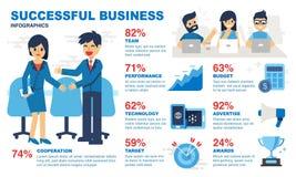Infographics acertado del negocio - ejemplo stock de ilustración