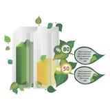 Infographics adornó con las hojas de árboles Fotografía de archivo libre de regalías