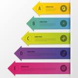 Infographics Affärsmomentalternativ Pilstil också vektor för coreldrawillustration stock illustrationer
