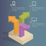 Infographics - affärsstrategi Arkivbilder