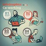 Infographics ajustou-se ao estilo de um esboço do Internet global Fotos de Stock