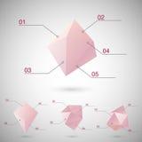 Infographics ajustou-se com formas geométricas poligonais Imagem de Stock