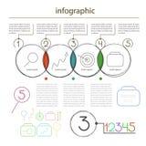 Infographics allgemeinhineditable von den Kreisen - stellen Sie für Informationsvektor ein Lizenzfreies Stockfoto