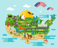 Infographics about America. Vector illustration Royalty Free Stock Photography