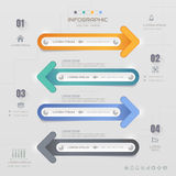 Infographics Arrow design template with icons, process, Royalty Free Stock Photography