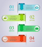 Infographics arrow template. Abstract business process infographics arrow template. Can be used for workflow layout, diagram, number options, step up options Stock Images