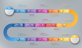 Infographics arrow timeline hystory template Stock Images
