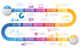Infographics arrow timeline hystory template Stock Photography
