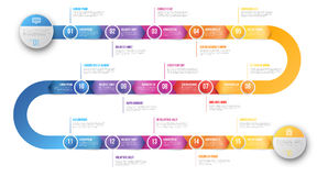 Infographics arrow timeline hystory template Royalty Free Stock Photos