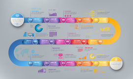 Infographics arrow timeline hystory template Stock Photos