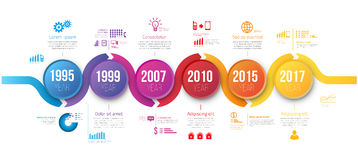 Infographics arrow timeline hystory template Royalty Free Stock Photo