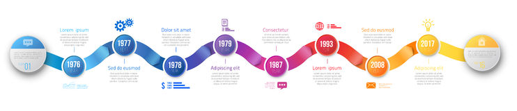 Infographics arrow timeline hystory template Royalty Free Stock Photography