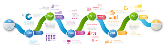 Infographics arrow timeline hystory template Royalty Free Stock Image