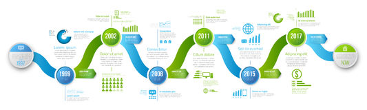 Infographics arrow timeline hystory template Stock Photo