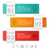 Infographics arrows templates 3 option, parts, steps. Business c Stock Photography