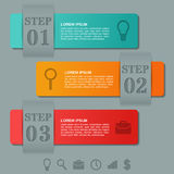 Infographics arrows templates 3 option, parts, steps. Business  Royalty Free Stock Photo