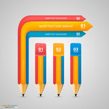 Infographics as a stick Stock Images