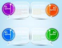 Infographics astratto Fotografia Stock