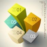Infographics astratto del cubo 3d illustrazione vettoriale