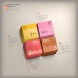 Infographics astratto del cubo 3d Fotografie Stock Libere da Diritti