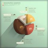 Infographics astratto del diagramma a torta 3d Fotografie Stock Libere da Diritti