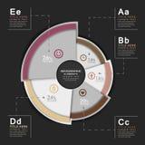 Infographics astratto del diagramma a torta 3d di vettore illustrazione vettoriale
